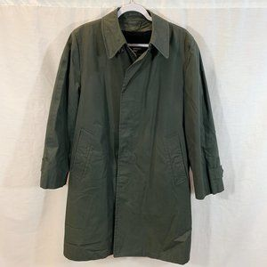 VTG London Fog Trench Coat Jacket Green Mens 38S